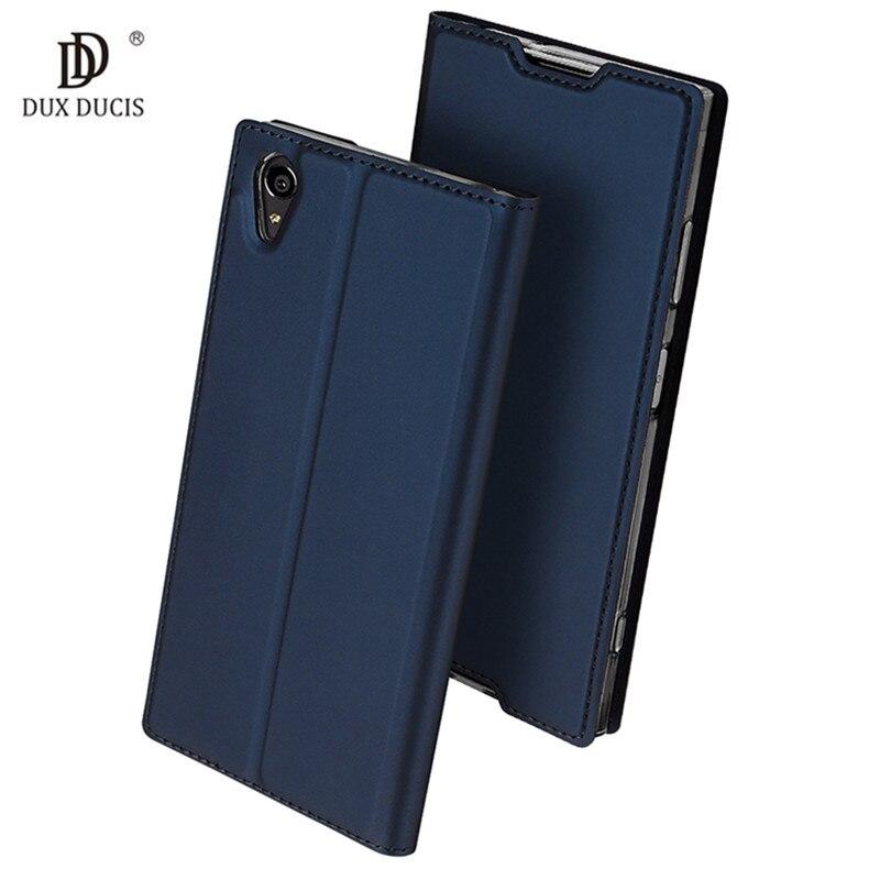 DUX DUCIS Pour Sony XA1 Plus G3412 G3421 G3423 G3416 cas Flip PU en cuir souple de silicium de couverture arrière pour Sony Xperia XA1 Plus coque