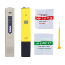 Portable Digital PH Meter Tester with TDS Pen 0.0-14.0 High Accuracy for Drink Water Food Lab Monitor
