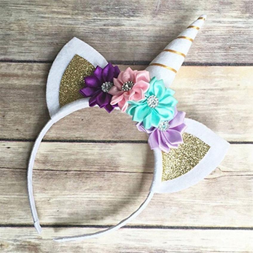 2018 New Style Sunshine Girl Party Headdress Decorative Flower Hairband Kids Girls Headbands Headwear Lovely Kawai And Beautiful