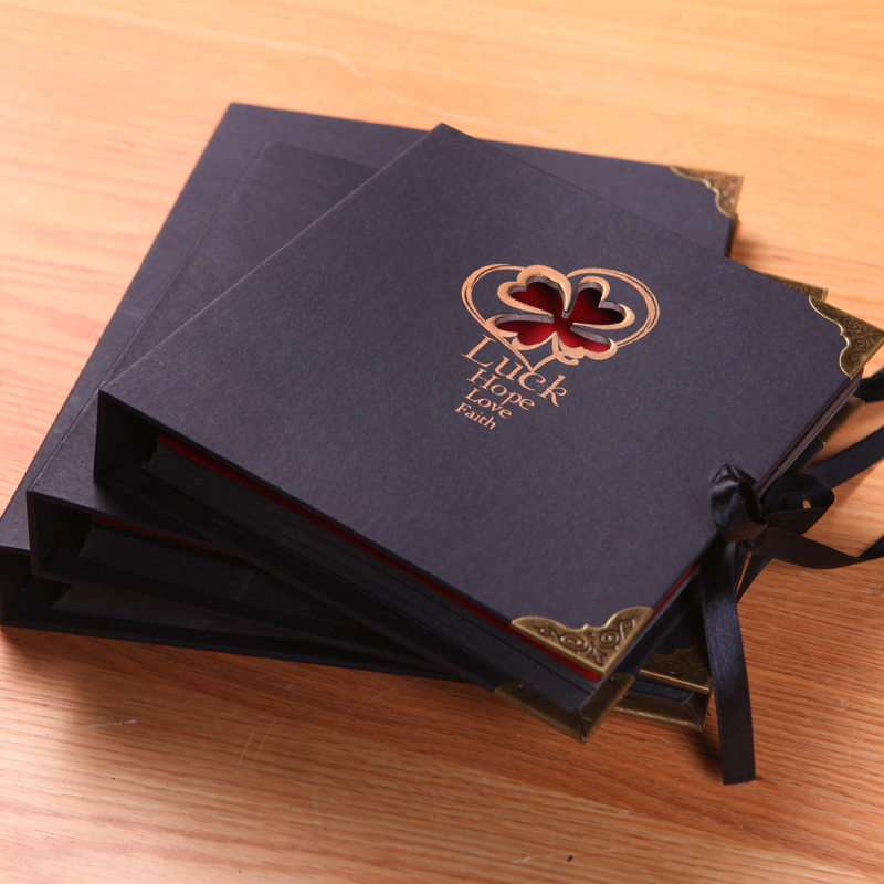 New Diy Handmade Creative Albums Romantic Souvenir: Black Paper Diy Handmade Photo Album Photo Album Book