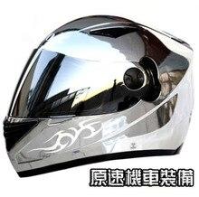 New MASEI JACK DANIEL 830 Full Face Motorcycle Silver Plating font b Helmet b font Capacete