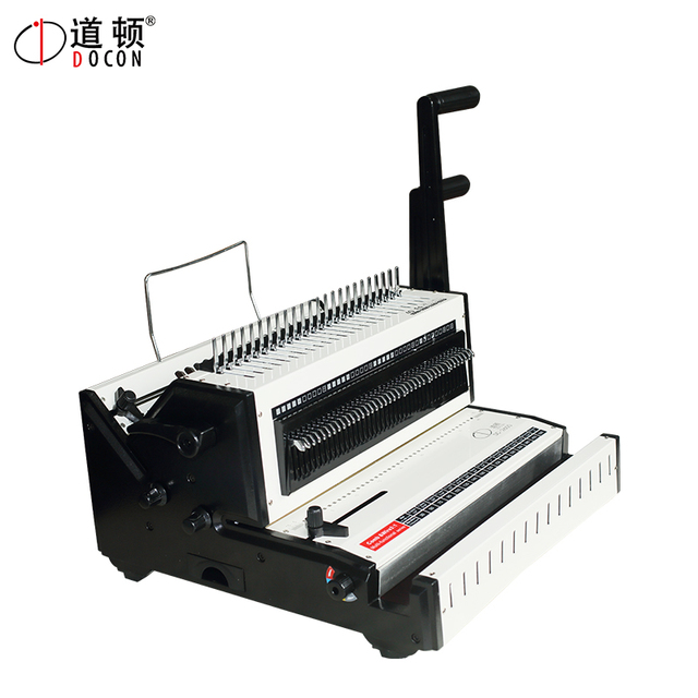 US $240 0 |DC 2600 manual 3:1 comb binding machine and wire binding machine  comb book binding machine wire book binding machine-in Binding Machine