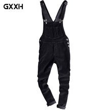 Men's XL Workwear Bib Pants Men's Autumn Corduroy Feet Casual Pants Youth Siamese Strap Black Elastic Trousers Size S-XL XXL
