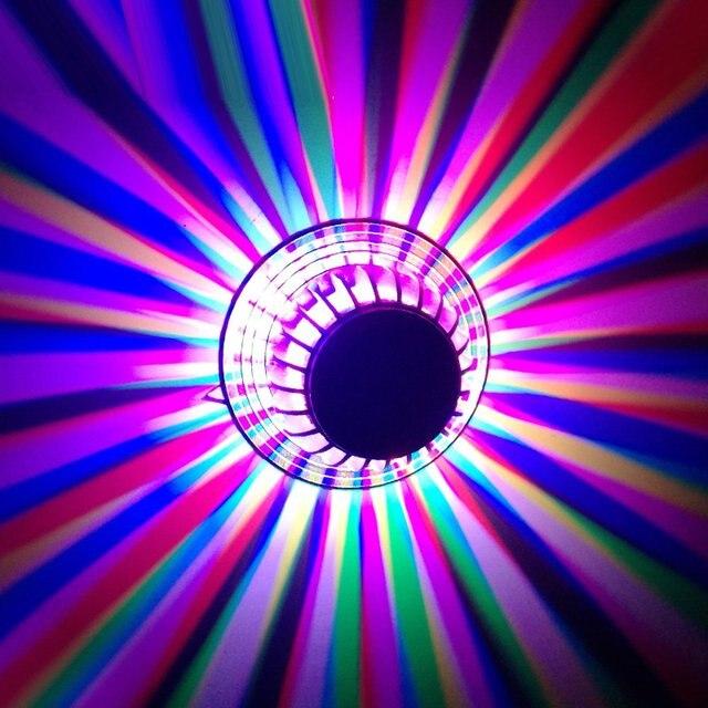 Blume Aluminium Bunten Led Wandleuchte Farben Switch Control Moderne Wohnzimmer Bar Club Night Wandleuchten Flur