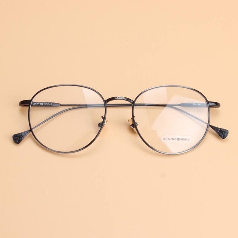 86e92d5f79 Glasses Clear Lens Round Metal Frame Glasses Vintage Spectacle Optical Eye Glasses  Frames for Women-in Eyewear Frames from Men s Clothing   Accessories