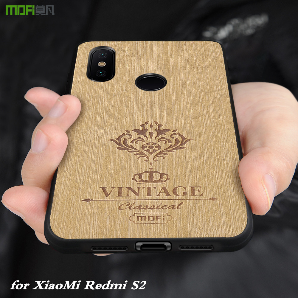 MOFi Original Back Case for Xiaomi Redmi S2 Hard Cover for Mi S2 PU Leather for xiomi Full Silicone TPU Conque Housing Case
