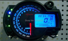 New Backlight LCD Digital Motorcycle Speedometer Odometer Motor Bike Tachometer Koso Similar