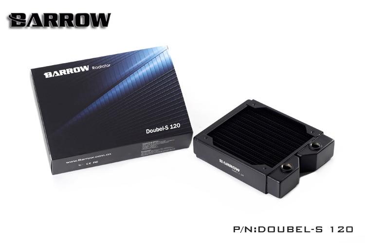 Barrow black 120MM radiator Double s 120 double wave copper radiator 34MM thickness watercooling heatsink compatible