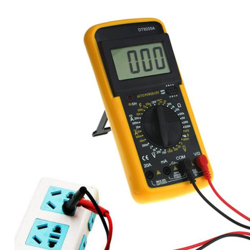ANENG DT9205A Professional Digital Multimeter Electric Handheld Ammeter Voltmeter Resistance Capacitance hFE Tester AC DC LCD in Multimeters from Tools