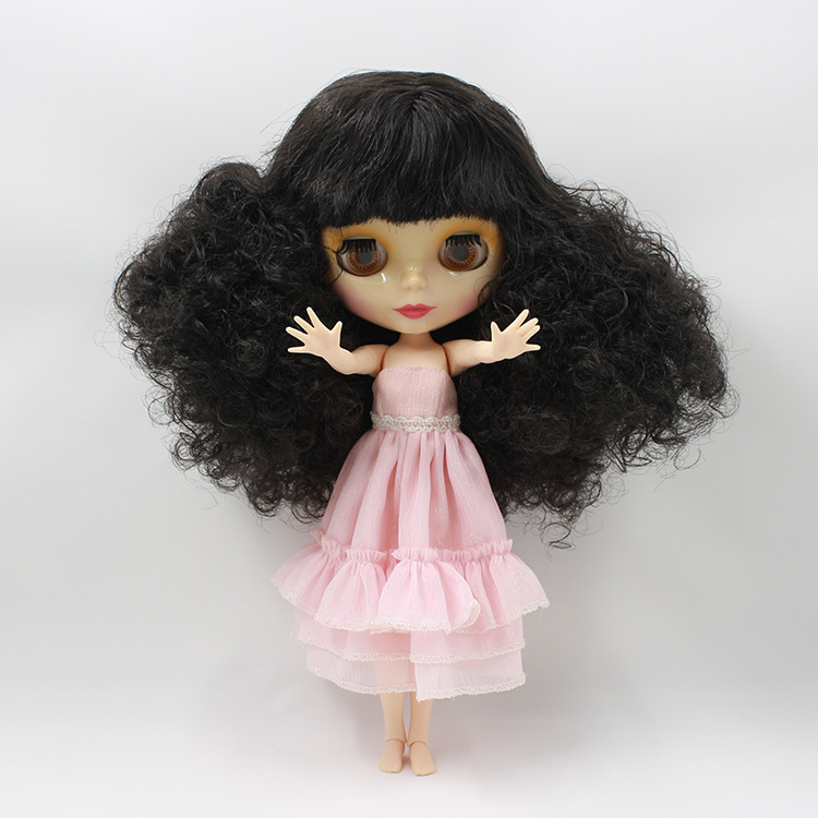 2017 joint body Nude blyth Doll,pink long hair Factory