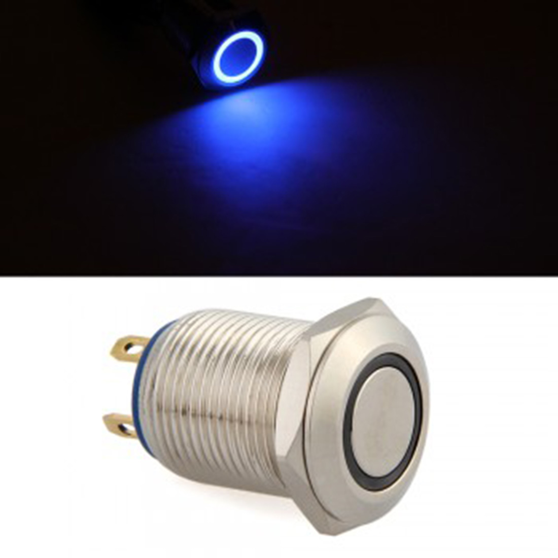 Dewtreetali free shipping new Hot Selling Blue LED Momentary On/Off Push Buttons Switch For Car Auto
