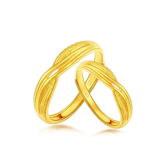 Pure and Solid 999 Gold Ring women s Ring Wedding Engagement