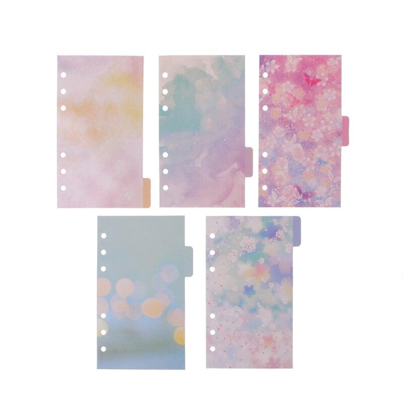 5 шт. Цветочные разделители аксессуары для блокнот dokibook планировщик A6 внутренняя страница