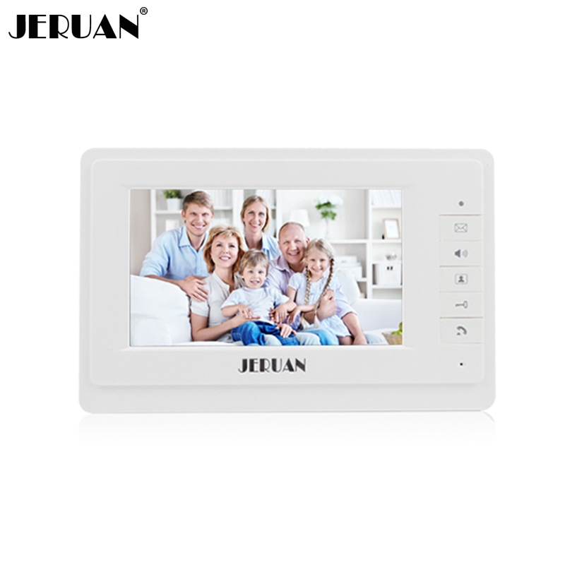 JERUAN 7 inch color  video door phone intercom system only monitor 714