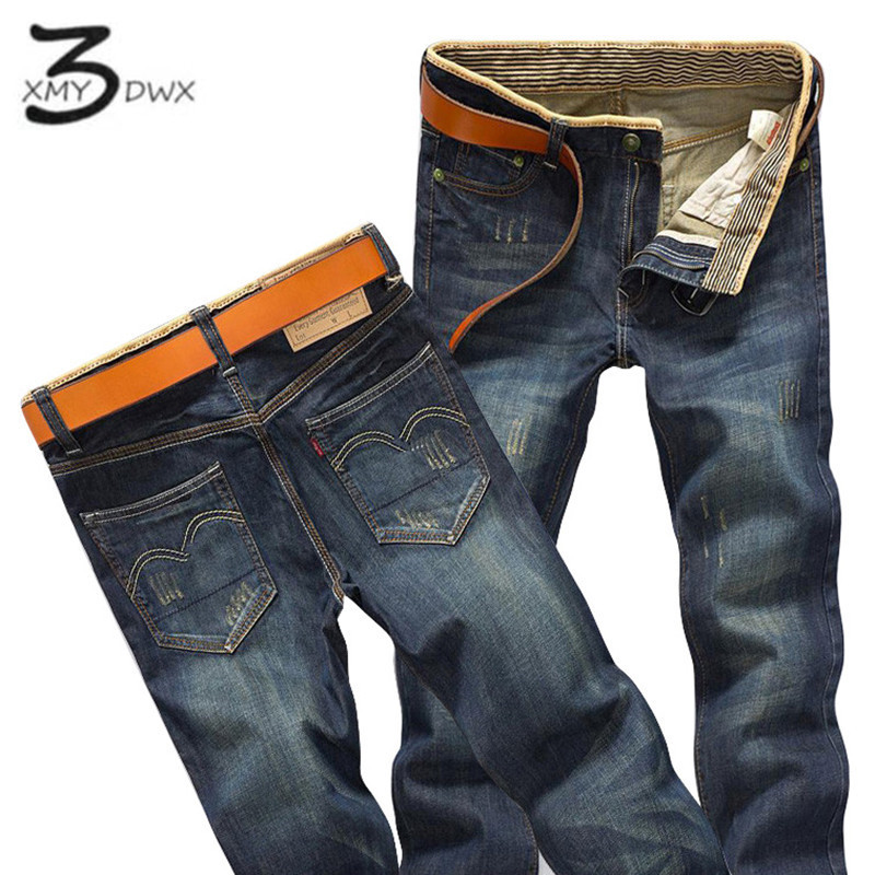 XMY3DWX Brand Men Jeans Size 28 to 38 Black Blue Stretch Denim Slim Fit Men Jean for Man Pants Trousers Jeans/Slim jeans fashion 1 pcs jeans for men cheap china straight regular fit denim jeans pants classic blue color brand clothes size 28 to 38 bn446
