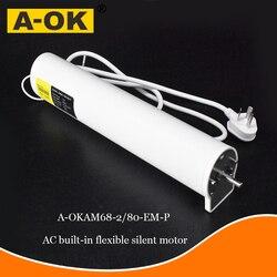 A-OK motor AM68 100-240 V stille elektrische gordijn spoor, openen en sluiten gordijn motor smart home elektrische gordijn