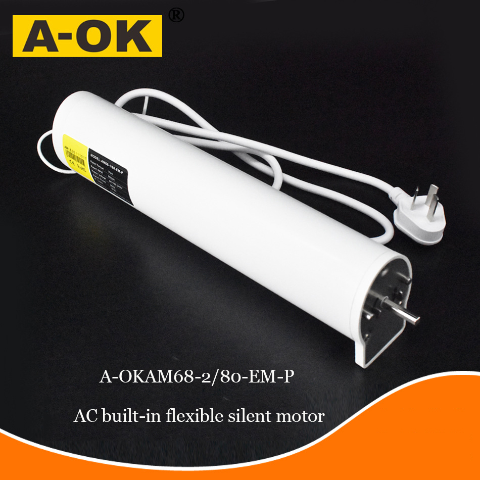 A-OK Motor AM68 100-240V Silent Electric Curtain Track, Opening And Closing Curtain Motor Smart Home Electric Curtain