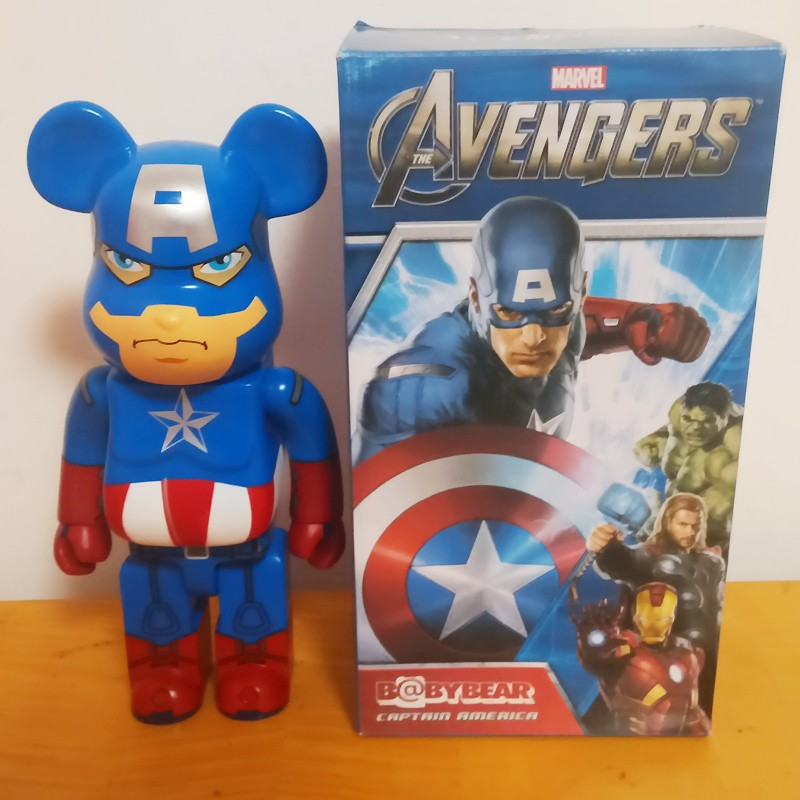 Steve Rogers 11inch 400% Bearbrick Be@rbrick COS Captain America PVC Action Figure Collectible Model Toy RETAIL BOX DE203 new hot christmas gift 21inch 52cm bearbrick be rbrick fashion toy pvc action figure collectible model toy decoration