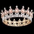 2016 Hot New Style Rainha coroa de strass enfeites de cabelo jóias cocar de casamento da noiva do cabelo do casamento de jóias da princesa Europeia