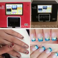 Free Shipping Computer And Touchable Screen Build Inside Black Color Digital Nail Printer Nail Printing Machine
