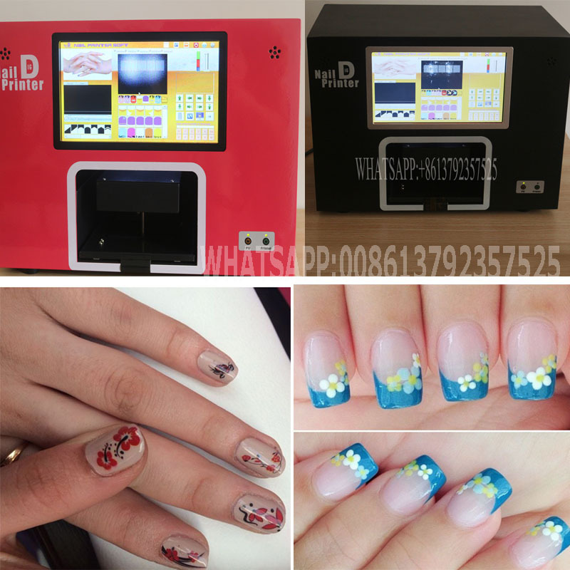 Free shipping computer and touchable screen build inside black color digital nail printer nail printing machine