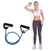 120cm bandas elásticas de resistencia Yoga tira de la cuerda Fitness entrenamiento bandas deportivas Yoga goma tracción cuerda expansor banda elástica