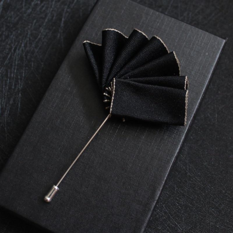 Formal British French Men Fabric Jacquard Brooch Pin Pocket Square Groom Wedding Suits Chest Towel Hankies Banquet Handkerchiefs