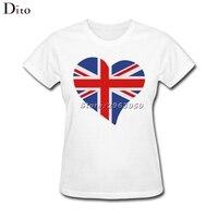 Vương Quốc Anh Tình Yêu trái tim Tees Áo Sơ Mi Nữ Nữ Thiết Kế Mới Nhất Ngắn Tay Áo Tùy Chỉnh Kích Thước Lớn Couple T Shirts