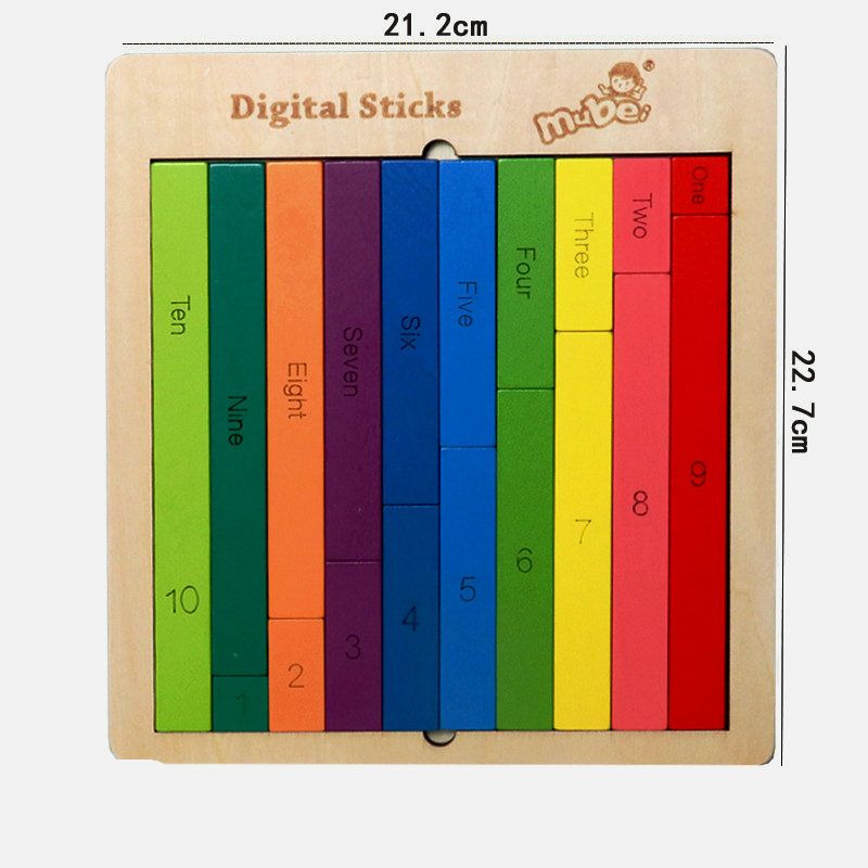 Free shipping Kids wooden 0 9 Digital sticks jigsaw puzzle set Table Game Board Game wood Tangram Puzzle and Digital sticks toy in Puzzles from Toys Hobbies