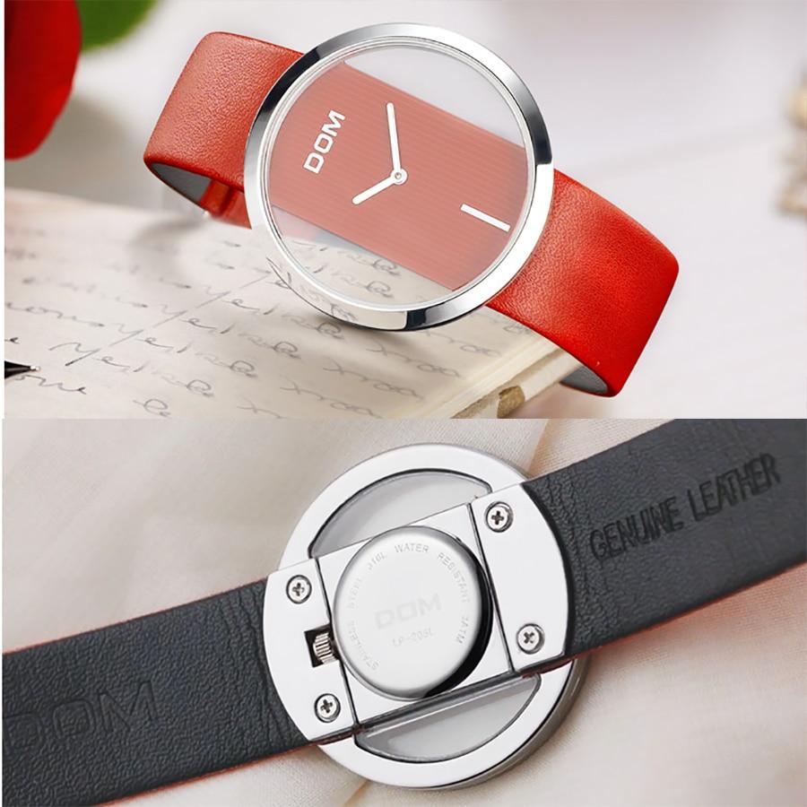 DOM Reloj Mujer de lujo Moda Casual 30 m relojes de cuarzo a prueba - Relojes para mujeres - foto 6
