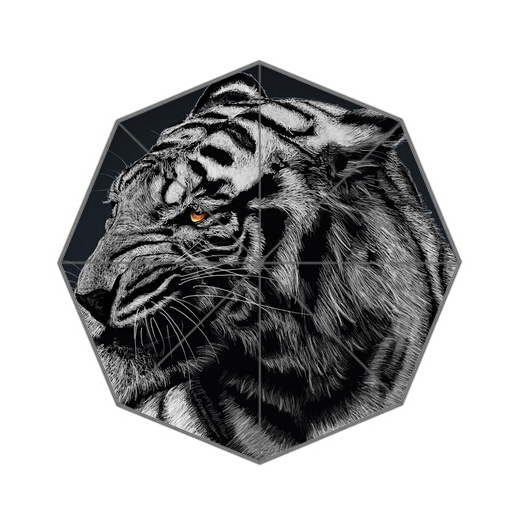 Fashion Design Umbrella Custom Custom Tiger Folding Umbrella For Man And Women Free Shipping UPC-256