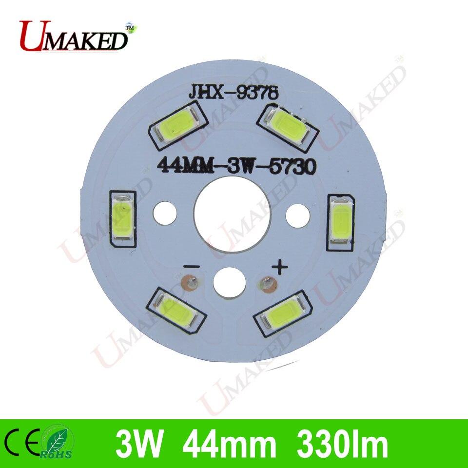 3W 44mm 330lm <font><b>LED</b></font> PCB with smd5730 chips installed, aluminum plate base for bulb light, ceiling light, <font><b>LED</b></font> lamps
