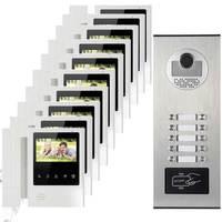 10 Apartments Video Intercom System RFID Doorbell CMOS 700Line HD Camera 4 3 Inch Color Display