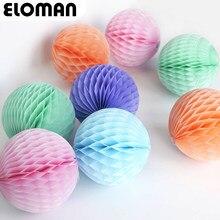 Bola colorida de pompons de papel para casamento, bola para festa de aniversário, decoração, pompons, faça você mesmo