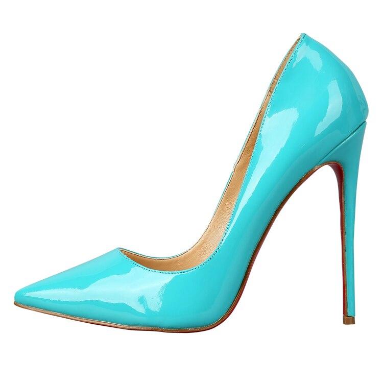 90 Цвета различные высокие каблуки Для женщин насосы классические женские модельные туфли обувь для вечеринок Большие размеры 34-45