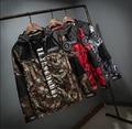 Otoño de Estilo Para Hombre de la Chaqueta Militar de Camuflaje Del Ejército Impermeable Cortavientos prendas de Vestir Exteriores de gran tamaño 3XL