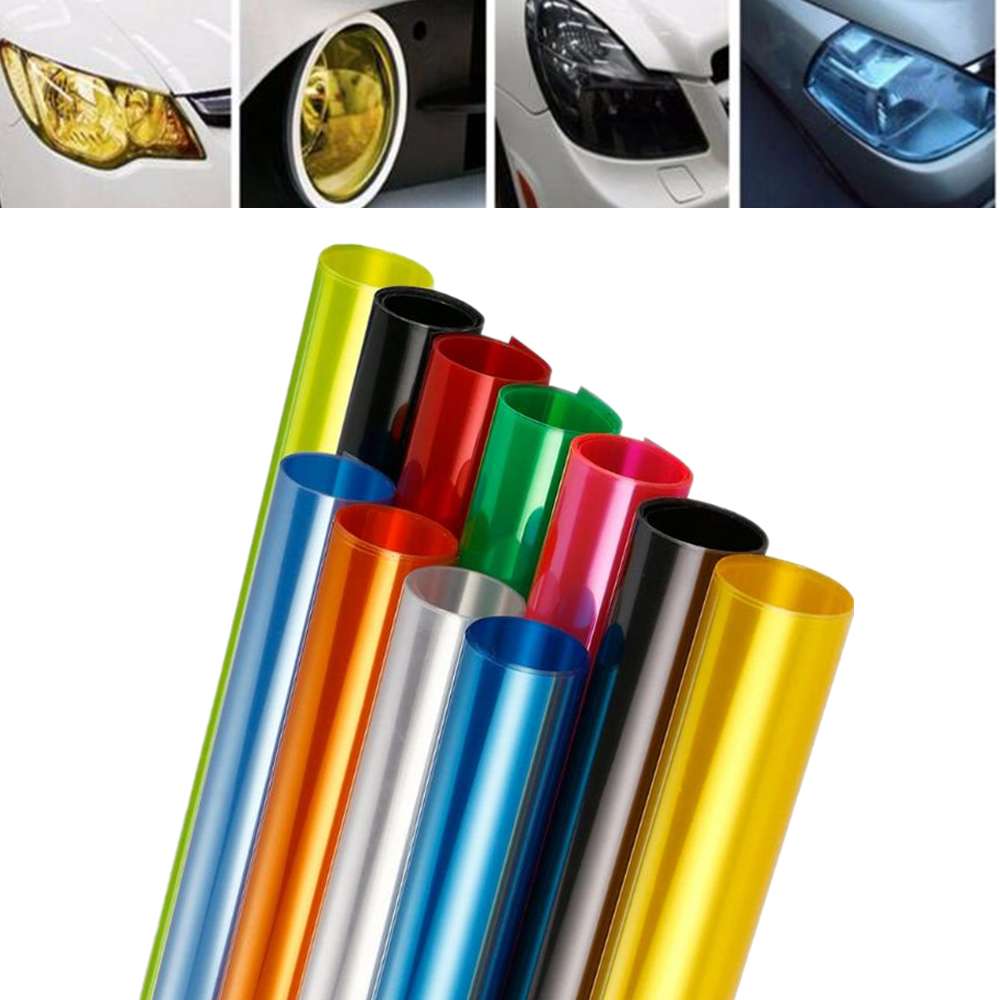 Car Headlight Sticker Tail Light Sticker Car Protective Film 30cm*200cm Headlamp Film Vinyl Sticker Car Sticker