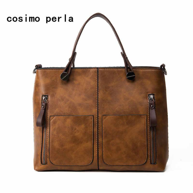 Big Satchel Sac a Main Purses Vintage Ladies Handbag 2019 Brand Designer  Women Messenger Bags Double a49ab7247a