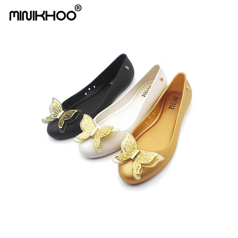 Mini Melissa 3D Bow Tie Woman Jelly Sandals 2018 Summer Parent-child Shoes Sandals Melissa Women Jelly Shoes Soft 22.5cm-24.5cm ...