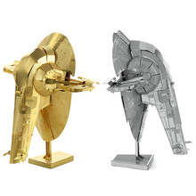3D model star wars metal puzzle slave 1 DIY Metallic Nano Snow Speeder assembly Model Kids Educational Toy online puzzles