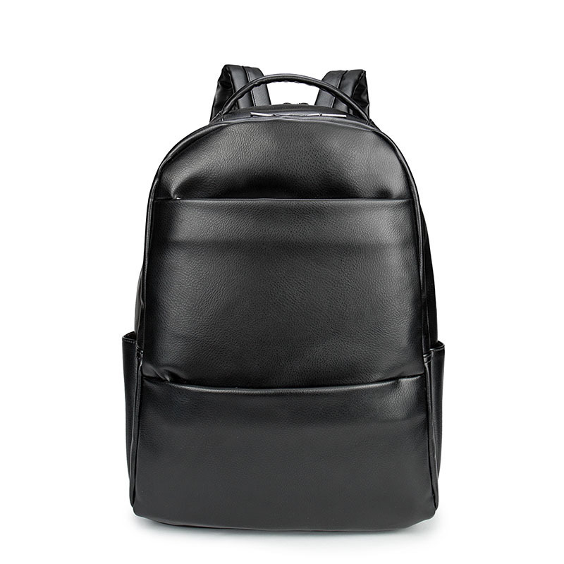 New Men Business Casual Backpacks for School Travel Bag Black PU Leather Men's Fashion Shoulder Bags Vintage Boys Men Backpack genuine cow leather vintage casual mens women backpack shoulder crossbody bags men travel backpacks for man school laptop bag