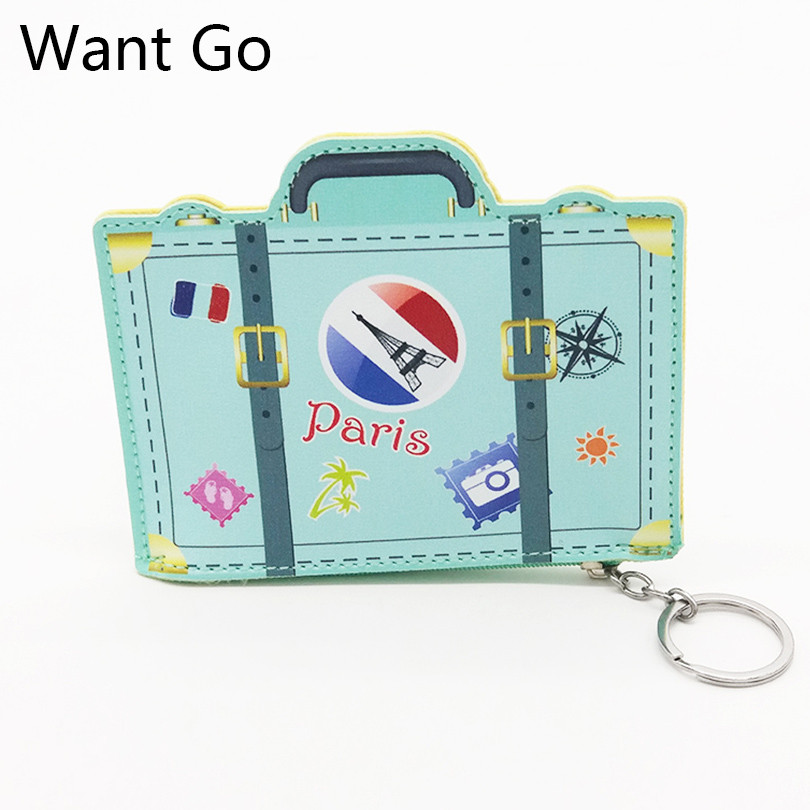 Want Go 3D Printing Kids Cartoon Coin Pouch Bag Fashion Girls Daily Use Coin Purse Pu Leather Zipper Mini Wallet Bag For Childs