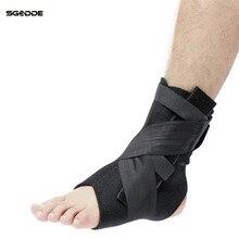 SGODDE S/M/L Size Adjustable Ankle Brace Support Stabilizer For Ankle Injury Recover Nursing Orthosis Sport Protector Straps