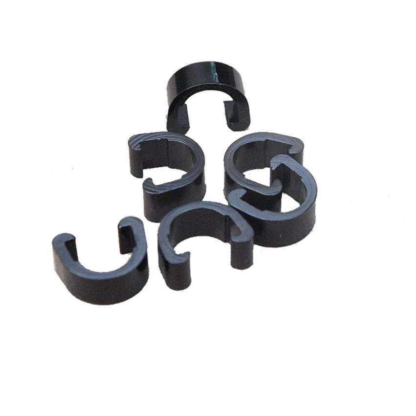 10pcs Mountain Bike Bicycle S-Clips Hose Buckle Brake Gear Cable Housing Guides