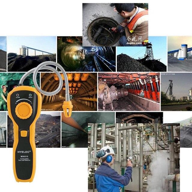 PEAKMETER détecteur de fuite de gaz Combustible Portable analyseur de gaz Propane de gaz naturel avec alarme de lumière sonore HYELEC MS6310 livraison gratuite