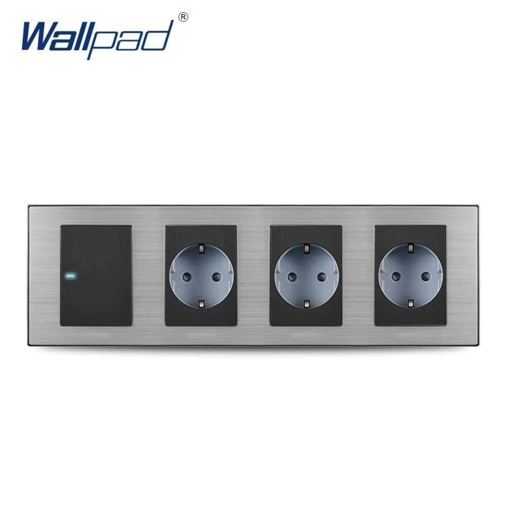 2019 Wallpad Hot Sale 1 Gang 2 Way Switch With 3 Eu Socket
