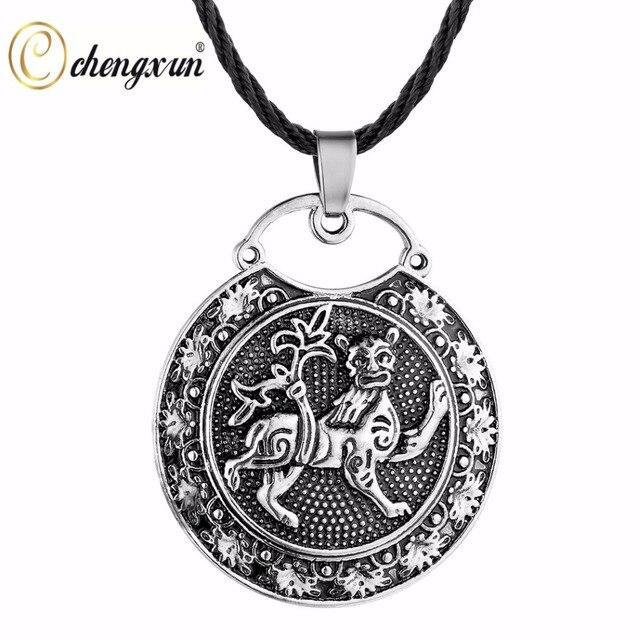 CHENGXUN Klassische Männer Tier Anhänger Lion Geschnitzte Halskette ...