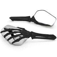 Brand new Skeleton Skull Hand Motorcycle Mirrors For Harley Davidson Softail Night Train Deluxe FLSTNI