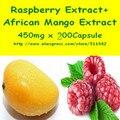 1 Pack Африканских Экстракт Манго + Малиновый Кетон 450 мг х 200 шт. Капсулы бесплатная доставка