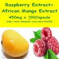 1Pack African Mango Extract + Raspberry Ketone 450mg x 200pcs Capsule free shipping
